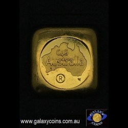 One ounce cast gold ingot. C4G Australia 99.99 fine gold. Lay-by Available