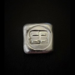 One ounce cast silver ingot. (Both C4G Australia & CPG Group brands available)