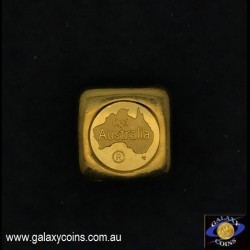 Two ounces cast gold ingot. C4G Australia 99.99 fine gold. Lay-by Available