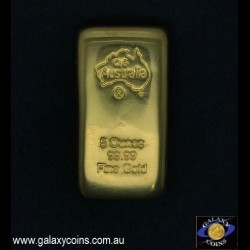 Five ounces cast gold ingot. C4G Australia 99.99 fine gold. Lay-by Available