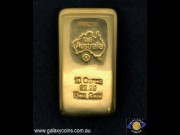 Ten ounces cast gold ingot. C4G Australia 99.99 fine gold. Lay-by Available