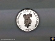$50. Half ounce 9995 Platinum. The Australian Koala. Elizabeth II. Encased Bullion coin. (*) (Please note that email offers are considered on all coins.)