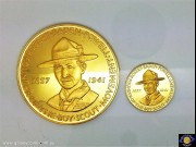 Matthew Garrett 2 medal set - on behalf of Slade, Hampton & Son Ltd. 1941-1966: 25th Anniversary of the death of Lord Baden-Powell. Green case & certificate. (Please note that email offers are considered on all coins.) (*)