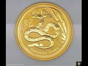 $200. 2 oz 9999 Gold - Bullion coin. Lunar Series - Year of the Snake 2013. Elizabeth II. Reeded edge - Perth Mint. (*) (Please note that email offers are considered on all coins.)