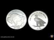 Set of Two encased Bullion coins - One ounce each. Buffalo Liberty & Indian Head Eagle. (Please note that email offers are considered on all coins.)