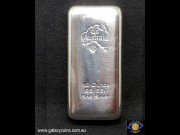 Ten ounces cast silver bar. (The photo is for illustration purposes as the brand is dependent on availability).