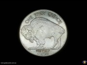 One Troy Ounce 999 Fine Silver Buffalo Round Bullion coin. Liberty. (Please note that email offers are considered on all coins.)