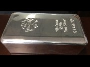 100 ounces cast silver bar. C4G Australia (The photo is for illustration purposes only).