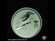 $2. Australian Kookaburra. Elizabeth II. 'Australians at War' medallion. Replica medal and ribbon. Encased coin in display case.  (Please note that email offers are considered on all coins.) (*)