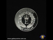 $1. Royal Visit. Crowned 'E' with floral emblems. Elizabeth II.  (Please note that email offers are considered on all coins.) (*)