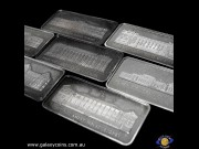 Seven Sterling Silver Ingots. The 50th Anniversary of Parliament House Canberra. (Presentation case and certificate). (Please note that email offers are considered on all coins.) (*)