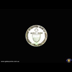 Commemorative medal. 150th Anniversary of the Swiss confederation. F.C.  de la Harpe. Canton de Laud. (Please note that email offers are considered on all coins.) (*)
