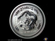 50 Cents. Lunar Series. Half ounce 999 silver. Year of the Dragon. Elizabeth II. Reeded Edge. Encased Bullion coin.  (*) (Please note that email offers are considered on all coins.)