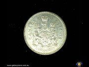 50 Cents. Crown above date divides coat of arms. Elizabeth II. Reeded Edge. (Please note that email offers are considered on all coins.) (*)