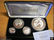 The Silver Kookaburra Collection. Four Encased Bullion coins. Perth Mint. Limited Edition - No. 44 out of 250. (*) (Please note that email offers are considered on all coins.)