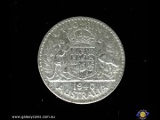 Florin. Coat of arms. George VI. Reeded edge. (Please note that email offers are considered on all coins.) (*)