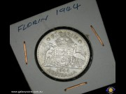 Florin. Coat of Arms. George VI. Reeded edge. San Francisco Mint. (Please note that email offers are considered on all coins.) (*)