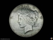 $1. Peace dollar. Liberty. Perched Eagle. Reeded edge. San Francisco Mint. (Please note that email offers are considered on all coins.) (*)